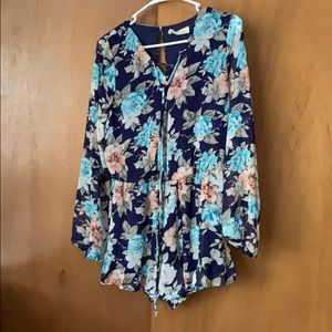 Floral romper, originally from Pink Lilly boutique